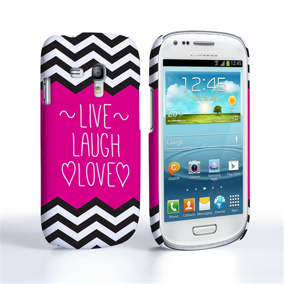 Caseflex Samsung Galaxy S3 Mini Live Laugh Love Heart Case