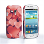 Caseflex Samsung Galaxy S3 Mini Red Shimmering Hearts Case