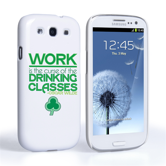 Caseflex Samsung Galaxy S3 Mini Wilde Drinking Classes Quote Hard Case – White and Green
