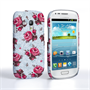 Caseflex Samsung Galaxy S3 Mini Vintage Roses Wallpaper Hard Case – Light Blue