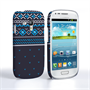 Caseflex Samsung Galaxy S3 Mini Fairisle Case – Grey and Blue Half Pattern