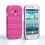 Caseflex Samsung Galaxy S3 Mini Fairisle Case – Pink and White