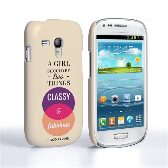 Caseflex Samsung Galaxy S3 Mini Chanel 'Classy and Fabulous' Quote Case