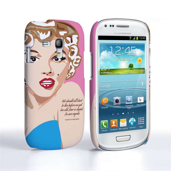 Caseflex Samsung Galaxy S3 Mini Marilyn Monroe 'Fear is Stupid' Quote Case