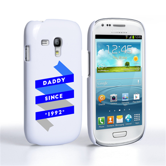 Caseflex Daddy Custom Year Samsung Galaxy S3 Mini Case - White