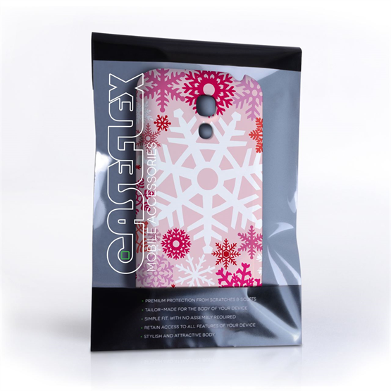 Samsung Galaxy S4 Mini Winter Christmas Snowflake Cover – Red