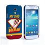 Caseflex My Dad, My Hero Customised Photo Samsung Galaxy S4 Mini Case – Blue