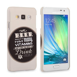 Caseflex Samsung Galaxy A3 Beer Label Quote Hard Case – Brown