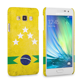 Caseflex Samsung Galaxy A3 Brazil 5-Star Retro World Cup Case