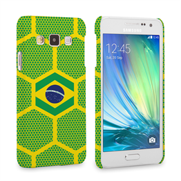 Caseflex Samsung Galaxy A3 Brazil Football Pattern World Cup Case