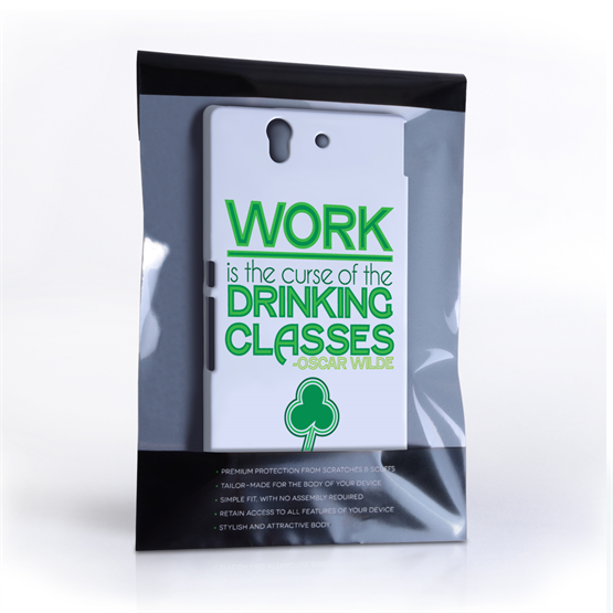 Caseflex Sony Xperia Z Wilde Drinking Classes Quote Hard Case