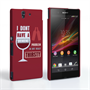 Caseflex Sony Xperia Z 'Really Thirsty' Quote Hard Case – Red