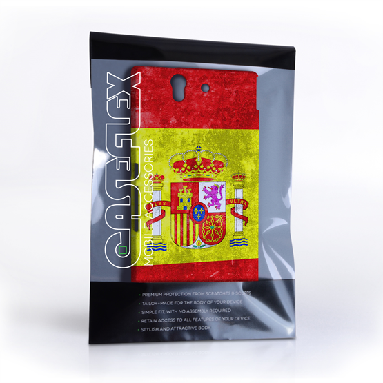 Caseflex Sony Xperia Z Retro Spain Flag Case