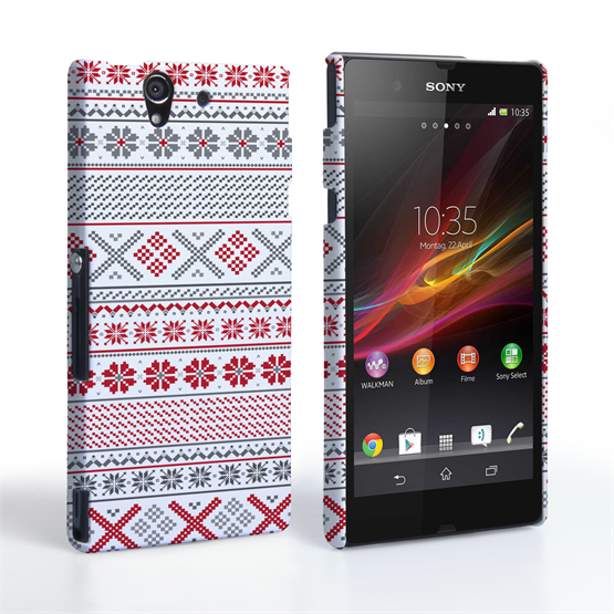 Caseflex Sony Xperia Z Fairisle Case – Red, White and Grey