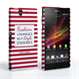 Caseflex Sony Xperia Z Chanel 'Fashion Changes' Quote Case – Red and White