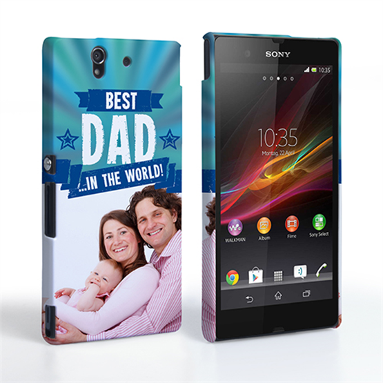 Caseflex Sony Xperia Z Best Dad in the World (Blue) Case/Cover