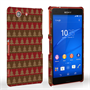 Caseflex Sony Xperia Z3 Compact Christmas Tree Knit Jumper Hard Case - Brown / Red