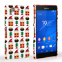 Caseflex Sony Xperia Z3 Compact Retro Game Christmas Presents & Pudding Hard Case