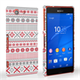 Caseflex Sony Xperia Z3 Compact Fairisle Case – Red, White and Grey