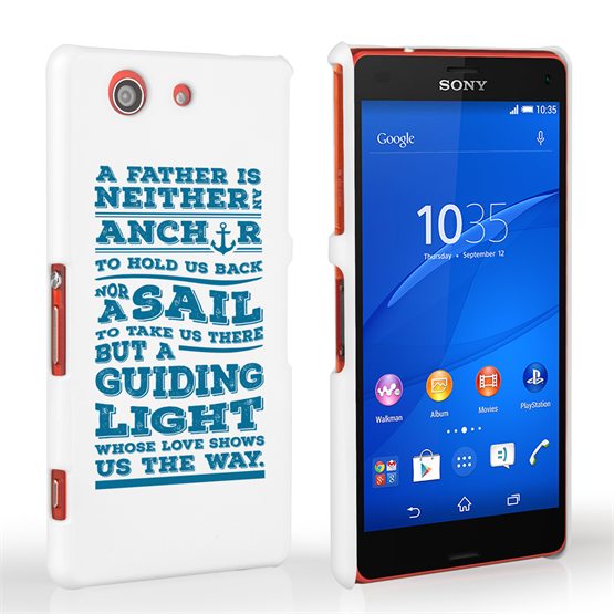 Caseflex Father Sail Quote Sony Xperia Z3 Compact Case