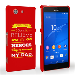 Caseflex Dad Heroes Quote Sony Xperia Z3 Compact Case - Red