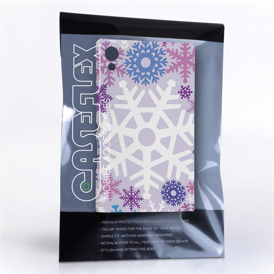 Caseflex Sony Xperia Z3+ Winter Christmas Snowflake Hard Case - Purple / Blue