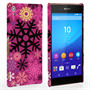 Caseflex Sony Xperia Z3+ Christmas Winter Snowflake Hard Case - Burgundy