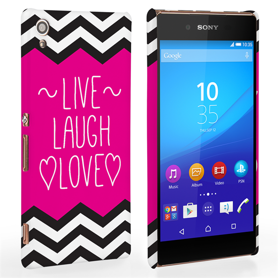 Caseflex Sony Xperia Z3+ Live Laugh Love Heart Case