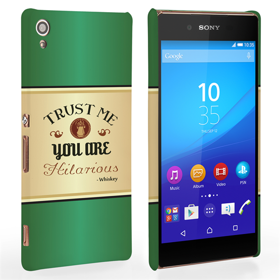 Caseflex Sony Xperia Z3+ Irish Whiskey Quote Hard Case – Green