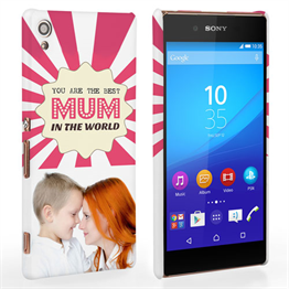 Caseflex Sony Xperia Z3 Plus 'Best Mum in the World' Personalised Hard Case – Pink