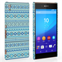Caseflex Sony Xperia Z3+ Fairisle Case – Blue with Blue Background