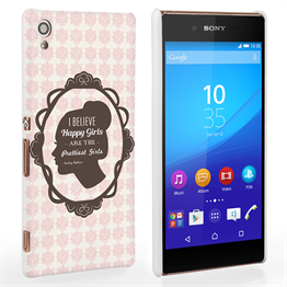 Caseflex Sony Xperia Z3 Plus Audrey Hepburn 'Happy Girls' Quote Case