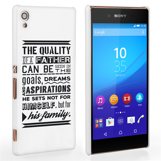 Caseflex Father Family Quote Sony Xperia Z3+ Case