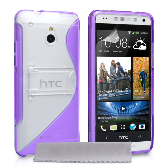 Caseflex HTC One Mini Gel Stand Case - Purple