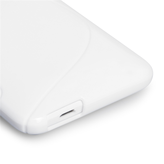 Caseflex HTC ONE Mini Silicone Gel S-Line Case - White