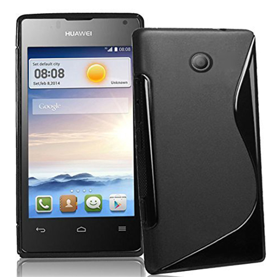 Caseflex Huawei Ascend Y300 S-Line Gel Case - Black