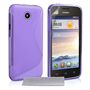 Caseflex Huawei Ascend Y330 Silicone Gel S-Line Case - Purple