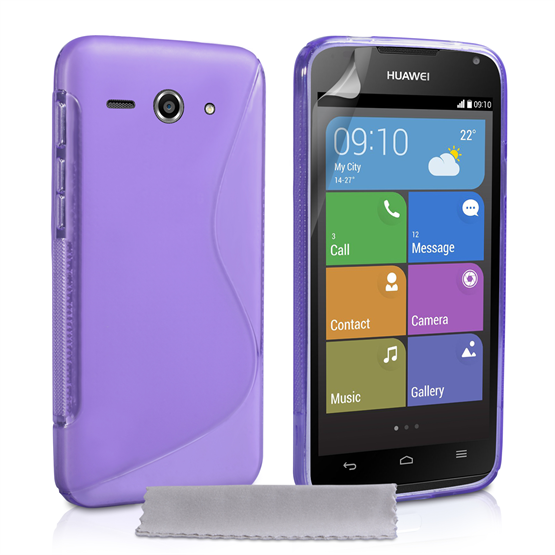 Caseflex Huawei Ascend Y530 Silicone Gel S-Line Case - Purple