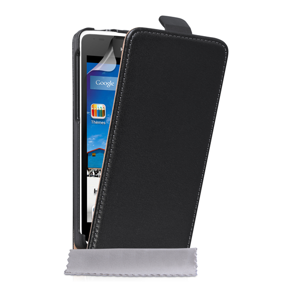 Caseflex Huawei Ascend Y530 Real Leather Flip Case - Black