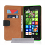 Caseflex Microsoft Lumia 435 Real Leather Wallet Case - Black