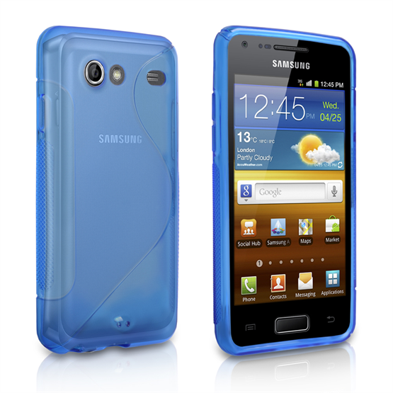 Caseflex Samsung Galaxy Advance S-Line Case - Blue