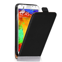 Caseflex Samsung Galaxy Note 3 Neo Real Leather Flip Case - Black