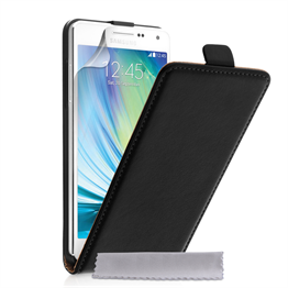 Caseflex Samsung Galaxy A5 Real Leather Flip Case - Black