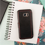 Caseflex Samsung Galaxy S7 Edge Leather-Effect Wallet Case - Black with Red Lining (Retail Box)