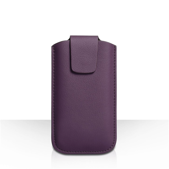 Caseflex Medium Textured Faux Leather Phone Pouch - Purple